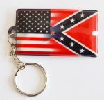 Confederate & Union Flag Torch Keyring